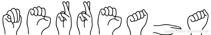 Merreaha im Fingeralphabet der Deutschen Gebärdensprache