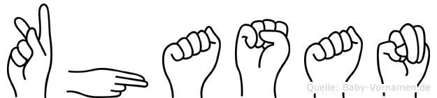 Khasan in Fingersprache für Gehörlose