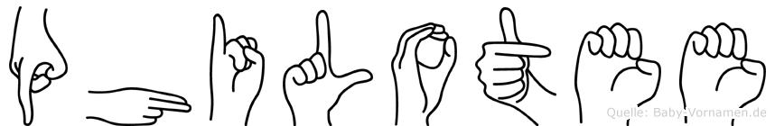 Philotee in Fingersprache für Gehörlose