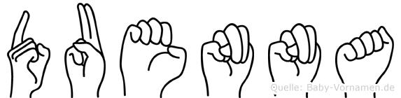 Duenna in Fingersprache für Gehörlose