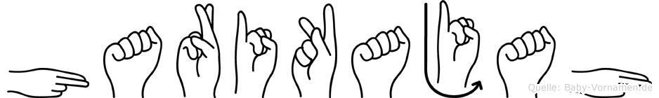 Harikajah im Fingeralphabet der Deutschen Gebärdensprache