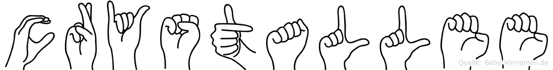 Crystallee in Fingersprache f�r Geh�rlose