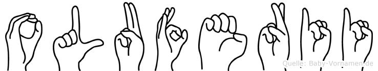 Oluferii im Fingeralphabet der Deutschen Gebärdensprache