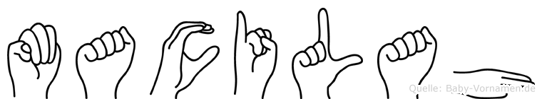 Macilah im Fingeralphabet der Deutschen Gebärdensprache