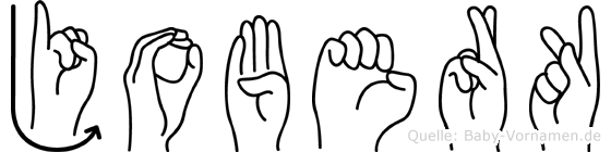Joberk im Fingeralphabet der Deutschen Gebärdensprache
