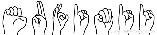 Eufimii in Fingersprache für Gehörlose
