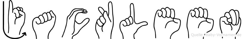 Jackleen in Fingersprache für Gehörlose