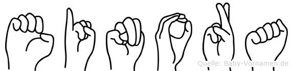 Einora in Fingersprache für Gehörlose