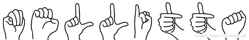 Mellitta in Fingersprache für Gehörlose