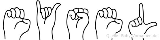 Eysel im Fingeralphabet der Deutschen Gebärdensprache