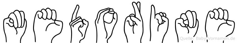 Medorine in Fingersprache für Gehörlose