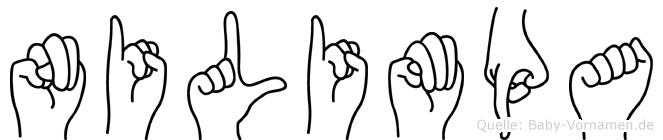 Nilimpa im Fingeralphabet der Deutschen Gebärdensprache