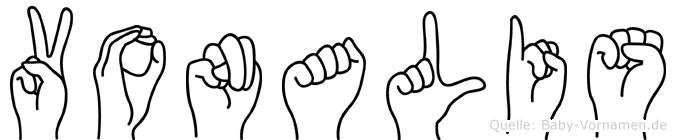 Vonalis im Fingeralphabet der Deutschen Gebärdensprache