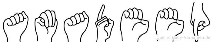 Amadeep in Fingersprache für Gehörlose