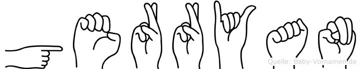 Gerryan in Fingersprache für Gehörlose
