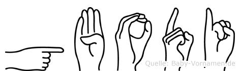 Gbodi in Fingersprache für Gehörlose