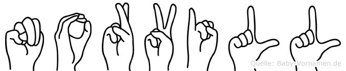 Norvill im Fingeralphabet der Deutschen Gebärdensprache