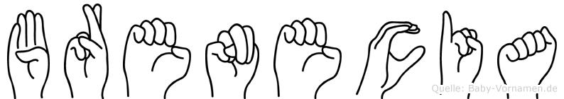 Brenecia im Fingeralphabet der Deutschen Gebärdensprache
