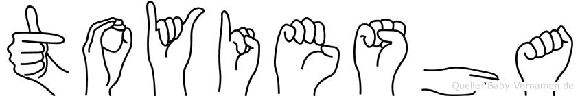 Toyiesha in Fingersprache für Gehörlose