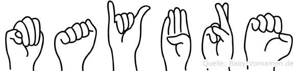 Maybre in Fingersprache für Gehörlose