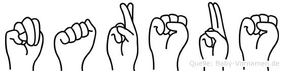 Narsus in Fingersprache für Gehörlose