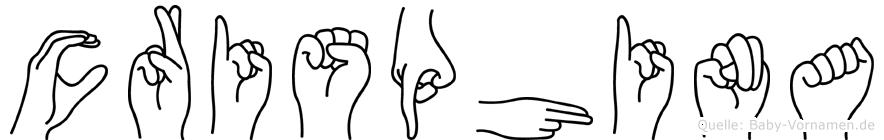Crisphina im Fingeralphabet der Deutschen Gebärdensprache