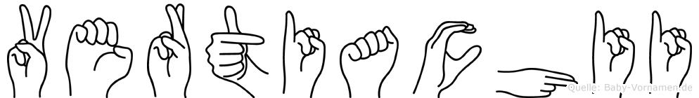 Vertiachii im Fingeralphabet der Deutschen Gebärdensprache