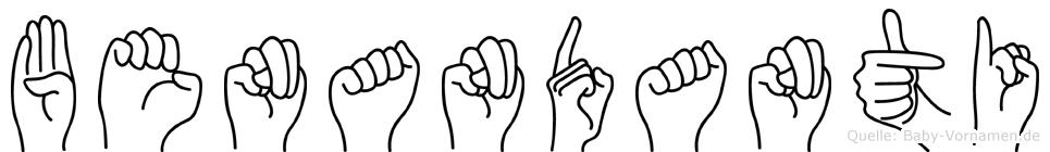 Benandanti in Fingersprache für Gehörlose