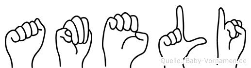 Ameli im Fingeralphabet der Deutschen Gebärdensprache