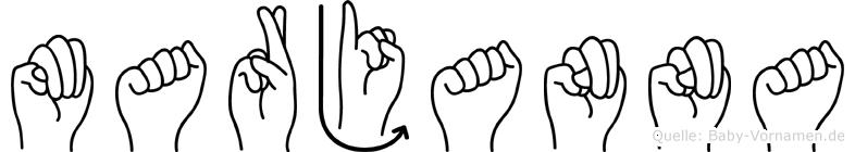 Marjanna im Fingeralphabet der Deutschen Gebärdensprache
