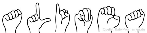 Alinea in Fingersprache für Gehörlose