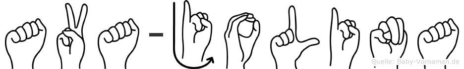 Ava-Jolina im Fingeralphabet der Deutschen Gebärdensprache