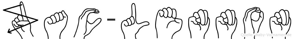 Zac-Lennon im Fingeralphabet der Deutschen Gebärdensprache