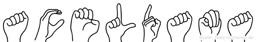 Aceldama in Fingersprache für Gehörlose