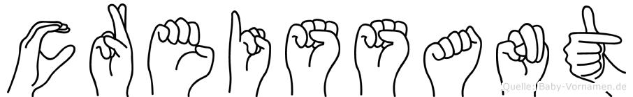 Creissant im Fingeralphabet der Deutschen Gebärdensprache