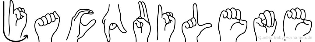 Jacquilene im Fingeralphabet der Deutschen Gebärdensprache