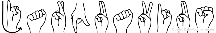Jarquavius im Fingeralphabet der Deutschen Gebärdensprache