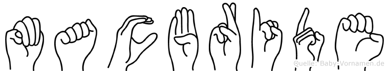 Macbride im Fingeralphabet der Deutschen Gebärdensprache