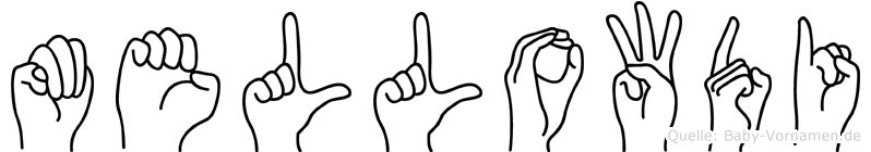 Mellowdi im Fingeralphabet der Deutschen Gebärdensprache