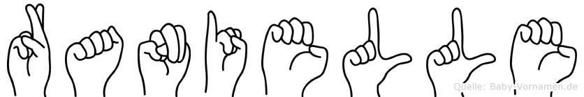 Ranielle in Fingersprache für Gehörlose
