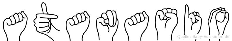 Atanasio in Fingersprache für Gehörlose