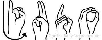Judo im Fingeralphabet der Deutschen Gebärdensprache