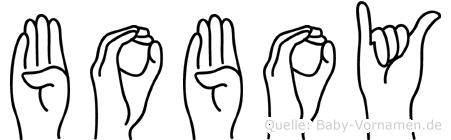 Boboy in Fingersprache für Gehörlose