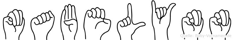 Mabelynn im Fingeralphabet der Deutschen Gebärdensprache