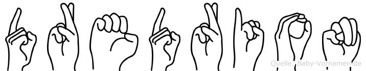 Dredrion in Fingersprache für Gehörlose