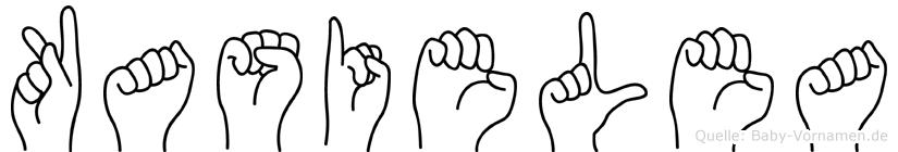 Kasielea in Fingersprache für Gehörlose