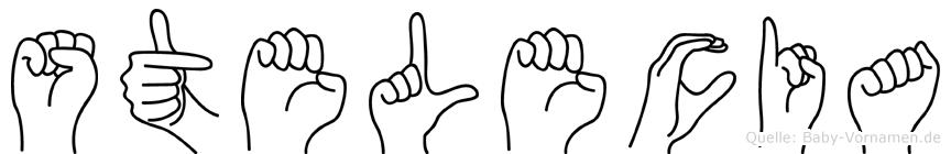 Stelecia im Fingeralphabet der Deutschen Gebärdensprache