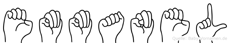 Emmanel im Fingeralphabet der Deutschen Gebärdensprache