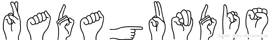 Radagundis in Fingersprache für Gehörlose
