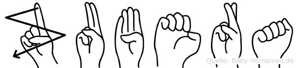 Zubera in Fingersprache für Gehörlose